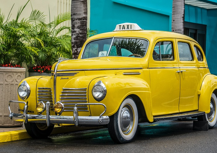 Yellow coloured taxis and symbolism